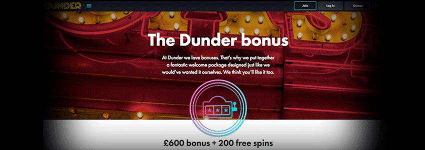 Get 200 Free Spins on Dunder Casino